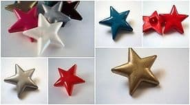 B1330-26mm VERY LARGE STAR SHANK PLASTIC BUTTONS CRAFT-CHRISTMAS-DECORATION - price is for 2 buttons