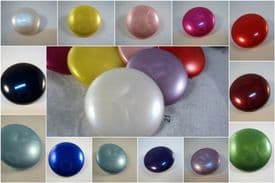 B1pe-30mm LARGE PEARLED PLASTIC SHANK WEDDING ITALIAN BUTTONS- LOT OF COLOUR - price for 5 buttons