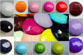 B225-38mm EXTRA LARGE CRYSTAL DIAMOND SHAPED SHANKED PLASTIC BUTTONS - price is for 2 buttons