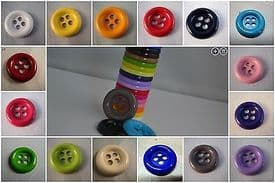 B246-28mm VERY LARGE CLOWN 4 HOLE PLASTIC ITALIAN BUTTONS- LOTS OF COLOUR - price is for 5 buttons