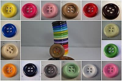 B246-30mm VERY LARGE CLOWN 4 HOLE PLASTIC ITALIAN BUTTONS-LOTS OF COLOUR- price is for 5 buttons