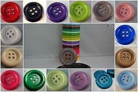 B246-53mm VERY LARGE CLOWN 4 HOLE PLASTIC BUTTONS- price is for 2 buttons