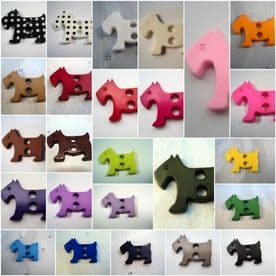 B509-31mm SCOTTIE DOG LARGE MATT ITALIAN PLASTIC BUTTONS SCRAPBOOKING -CARDS- price is for 4 buttons