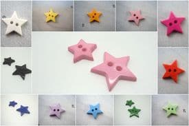 B599-13mm LITTLE BABY STAR SHAPE PLASTIC ITALIAN FLAT BUTTONS-CHRISTMAS - price is for 10 buttons