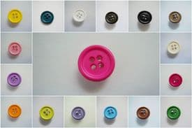 B687-15mm EDGE LITTLE BABY 4 HOLES PLASTIC ITALIAN BUTTONS- CHOOSE COLOUR- price is for 10 buttons