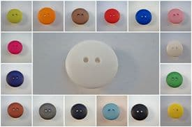 B68ny-15mm MATT ROUND 2 HOLES PLASTIC ITALIAN LARGE BUTTONS- COLOURED - price is for 10 buttons
