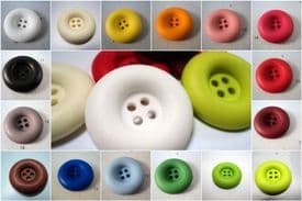 B696-30mm LARGE CHUNKY MATT SOLID CLOWN BUTTONS LARGE SELECTION OF COLOURS-price is for 4 buttons