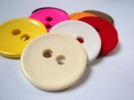 B831-38mm VERY LARGE CLOWN  PLASTIC ITALIAN BUTTONS 2 HOLE - LOTS COLOUR - PRICE IS FOR 3 BUTTONS