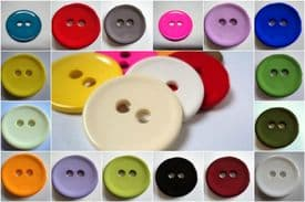 B831- 46mm VERY LARGE CLOWN  PLASTIC ITALIAN BUTTONS 2 HOLE - LOTS COLOUR - price is for 2 buttons