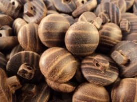 W1253-18-23mm NATURAL REAL SWEDEN PINE WOODEN SHANKED BUTTONS - price is for 5 buttons