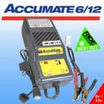 ACCUMATE 6/12V Charger - 4 step charger & maintainer for 6V and 12V batteries