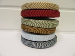 * 2 metres or 20 metre Roll 10mm Chevron Arrow Ribbon Woven Double sided UK