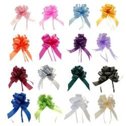 1 or 20 Pack of 50mm Pull Bows Ribbon Roll Craft Double Side Bows Bow