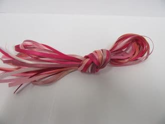 10 x 1 metre lengths assorted satin ribbon,  Double sided 3mm PINK ONLY