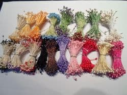 100 double headed wired Flower stamens Wedding cake flower decorating
