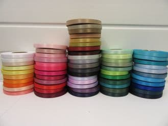 10mm Satin Ribbon 2 metres or 25 metre roll double sided wedding crafts UK