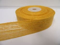 2 metres or 10 metre Roll 15mm 25mm Vintage Hessian Yellow Gold Ribbon Double sided Net