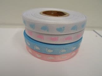 2 metres or full roll 10mm Baby Ribbon Grosgrain Feet Foot Toys Ribbed  10 mm