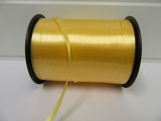 2 metres or full roll 5mm Canary Yellow Curling Florist Balloon Ribbon Double sided 5mm