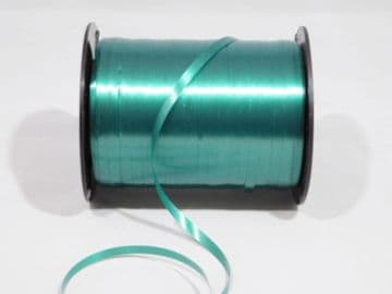 2 metres or full roll 5mm Forest Dark Green Curling Florist Balloon Ribbon Double sided 5mm