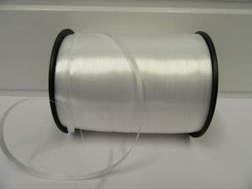 2 metres or full roll 5mm White Curling Florist Balloon Ribbon Double sided 5mm