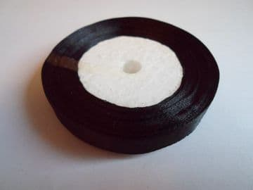 Black Satin satin ribbon, 13 metres, Single sided, 6mm 12mm 24mm 48mm 100mm Rolls,