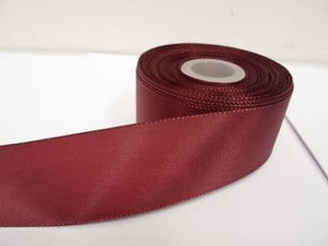 Burgudy Taffeta ribbon, 2 metres, Double sided, 8mm 15mm 25mm 40mm Rolls