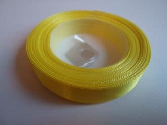 Canary bright Yellow Satin ribbon, 13 metres, Single sided, 6mm 12mm 24mm 48mm 100mm Rolls,