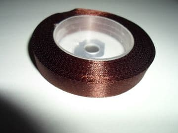 Chestnut dark Brown Satin ribbon, 13 metres, Single sided, 6mm 12mm 24mm 48mm 100mm Rolls,