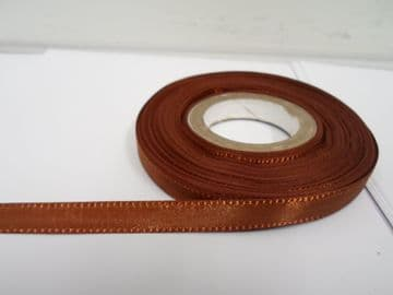 Chestnut dark Brown Taffeta ribbon, 2 metres, Double sided, 8mm 15mm 25mm 40mm Rolls