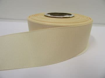 Cream Grosgrain ribbon Ribbed Double sided, 3mm, 6mm 10mm 16mm 22mm 38mm 50mm