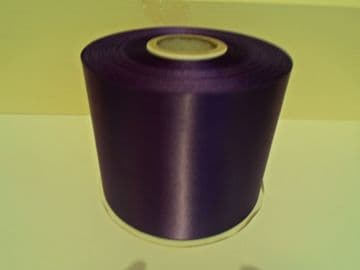 Dark Purple satin ribbon, 13 metres, Single sided, 6mm 12mm 24mm 48mm 100mm Rolls