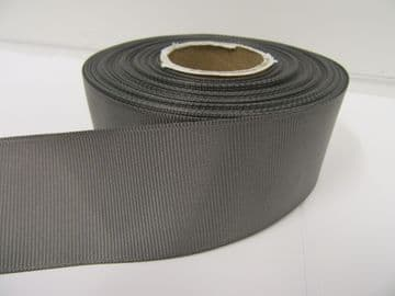 Gun Metal Grey / Dark Silver Grosgrain ribbon Ribbed Double sided, 3mm, 6mm 10mm 16mm 22mm 38mm 50mm