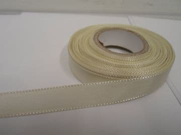 Ivory Taffeta ribbon, 2 metres, Double sided, 8mm 15mm 25mm 40mm Rolls