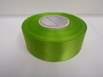 Leaf bright Green Satin ribbon Double sided, 3mm 7mm 10mm 15mm 25mm 38mm 50mm Roll Bow