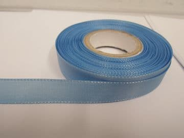 Light Blue Taffeta ribbon, 2 metres, Double sided, 8mm 15mm 25mm 40mm Rolls