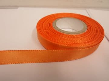 Light Orange Taffeta ribbon, 2 metres, Double sided, 8mm 15mm 25mm 40mm Rolls