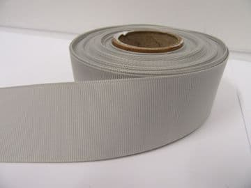 Light Silver Grey Grosgrain ribbon Ribbed Double sided 3mm, 6mm 10mm 16mm 22mm 38mm 50mm