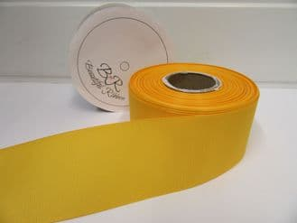Marigold Dark Yellow Grosgrain ribbon Ribbed Double sided, 3mm, 6mm 10mm 16mm 22mm 38mm 50mm