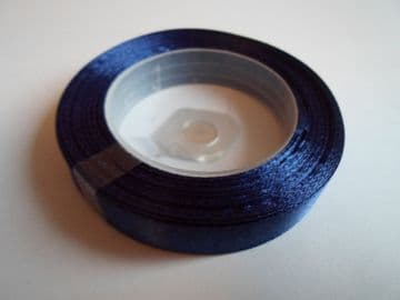 Navy dark Blue Satin ribbon, 13 metres, Single sided, 6mm 12mm 24mm 48mm 100mm Rolls,
