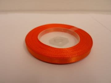 Pumpkin dark Orange Satin ribbon, 13 metres, Single sided, 6mm 12mm 24mm 48mm 100mm Rolls,