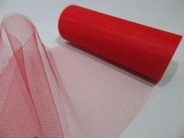 Red 15cm 150mm 2 or 10 metre Roll Tulle Mesh Net Netting (nearly 6 inch) Tutu