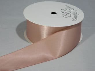 Rose Gold Satin ribbon Double sided 3mm 7mm 10mm 15mm 25mm 38mm 50mm Roll Bow