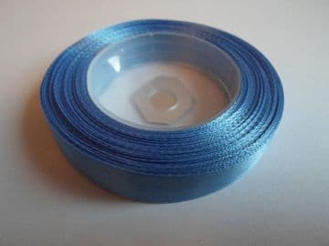 Sky Blue Satin ribbon, 13 metres, Single sided, 6mm 12mm 24mm 48mm 100mm Rolls,