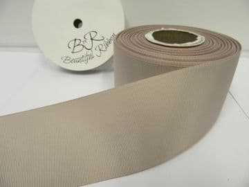 Taupe Grosgrain ribbon Ribbed Double sided, 3mm, 6mm 10mm 16mm 22mm 38mm 50mm