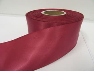 Victorian Dark Pink Satin ribbon Double sided 3mm 7mm 10mm 15mm 25mm 38mm 50mm Bow Roll