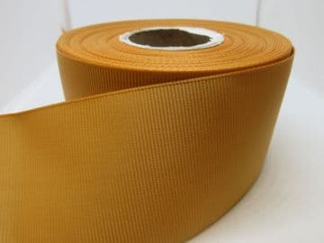 Yellow Gold Grosgrain ribbon Ribbed Double sided, 3mm, 6mm 10mm 16mm 22mm 38mm 50mm