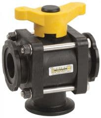 Banjo 3 Way Ball Valve - L Port 9901-MV100BL