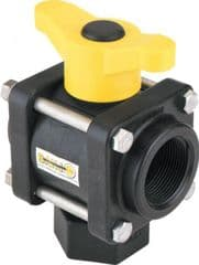 Banjo 3 Way Ball Valve - L Port 9901-V150BL