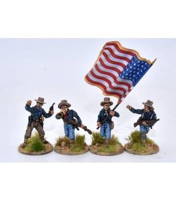 US13SA Infantry/Cavalry command group advancing